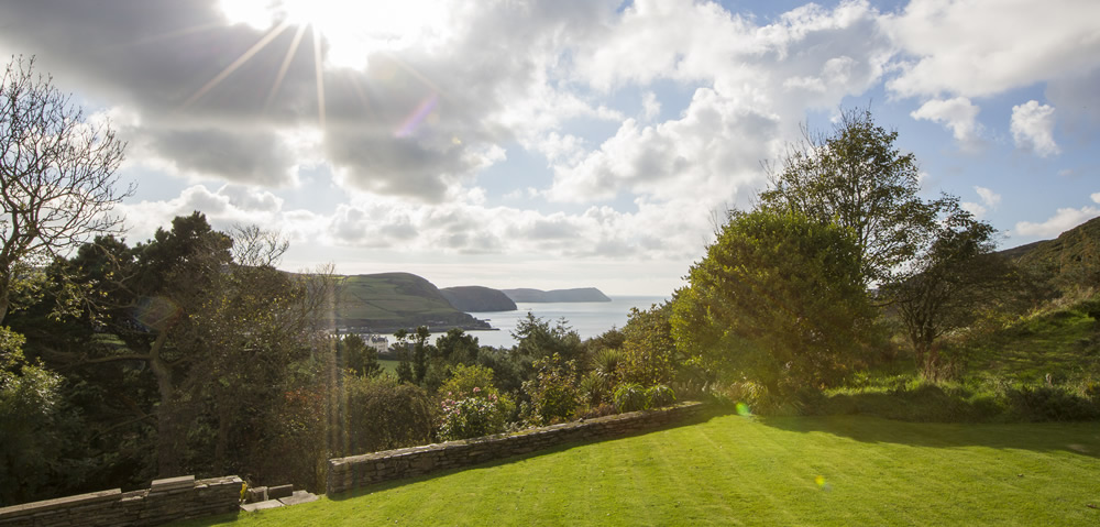 From the Pines garden over Port Erin Bay