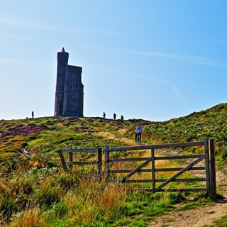 Milners Tower at the top of Bradda Head, a short but spectacular walk from the Pines self-catering
